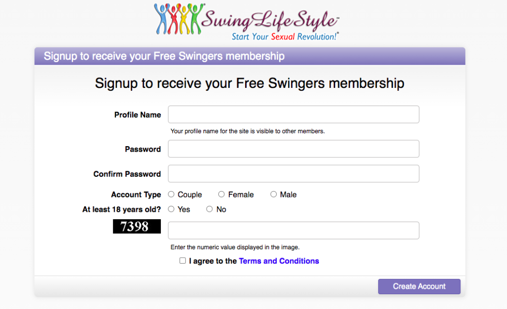 Signing Up On Swing Lifestyle